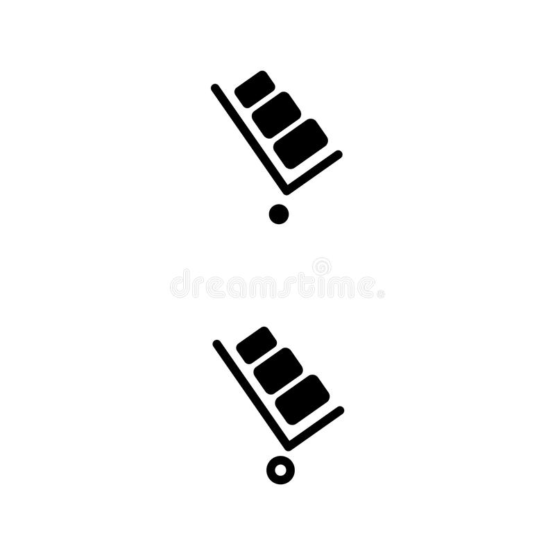 Stootkar vectorpictogram Stootkar op witte achtergrond E vector illustratie