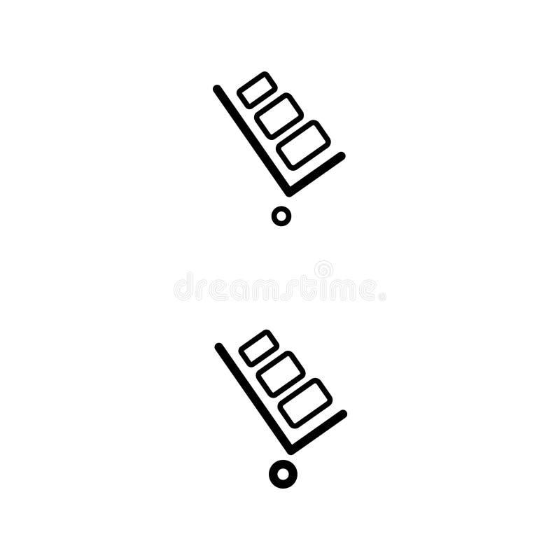 Stootkar vectorpictogram Stootkar op witte achtergrond wordt geïsoleerd die E royalty-vrije illustratie