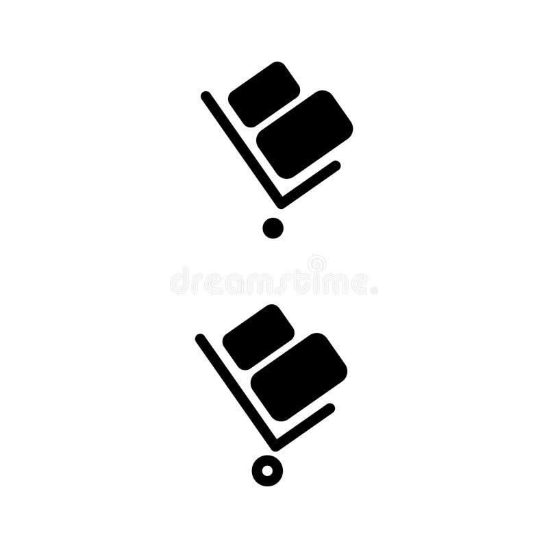 Stootkar vectorpictogram Stootkar op witte achtergrond wordt geïsoleerd die Leveringspictogram voor websites en mobiel vlak ontwe royalty-vrije illustratie
