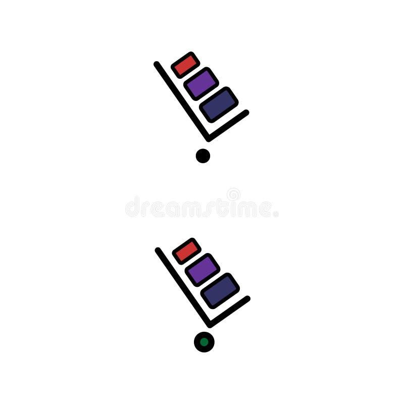 Stootkar vectorpictogram Stootkar op witte achtergrond wordt geïsoleerd die Leveringspictogram voor websites en mobiel vlak ontwe stock illustratie
