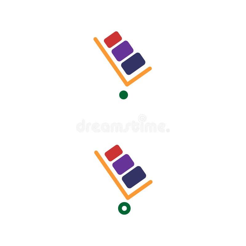 Stootkar vectorpictogram Stootkar op witte achtergrond wordt geïsoleerd die Leveringspictogram voor websites en mobiel vlak ontwe vector illustratie