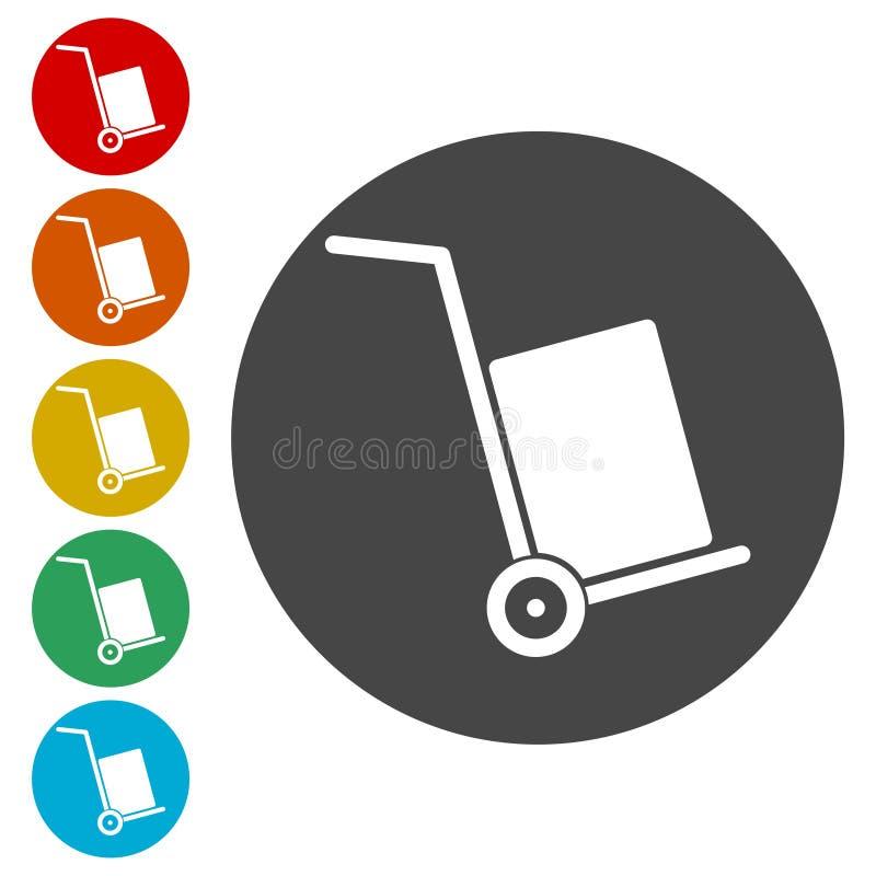 Stootkarpictogram, vectorpictogram royalty-vrije illustratie