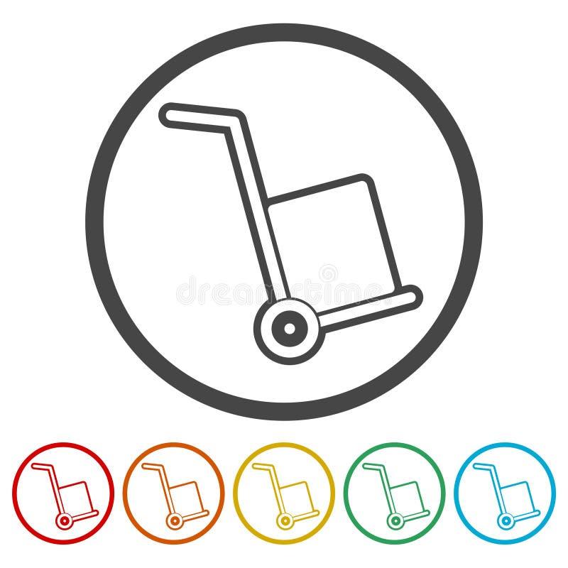 Stootkarpictogram, vectorpictogram stock illustratie