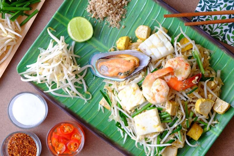 Stootkussen Thaise Zeevruchten stock afbeeldingen