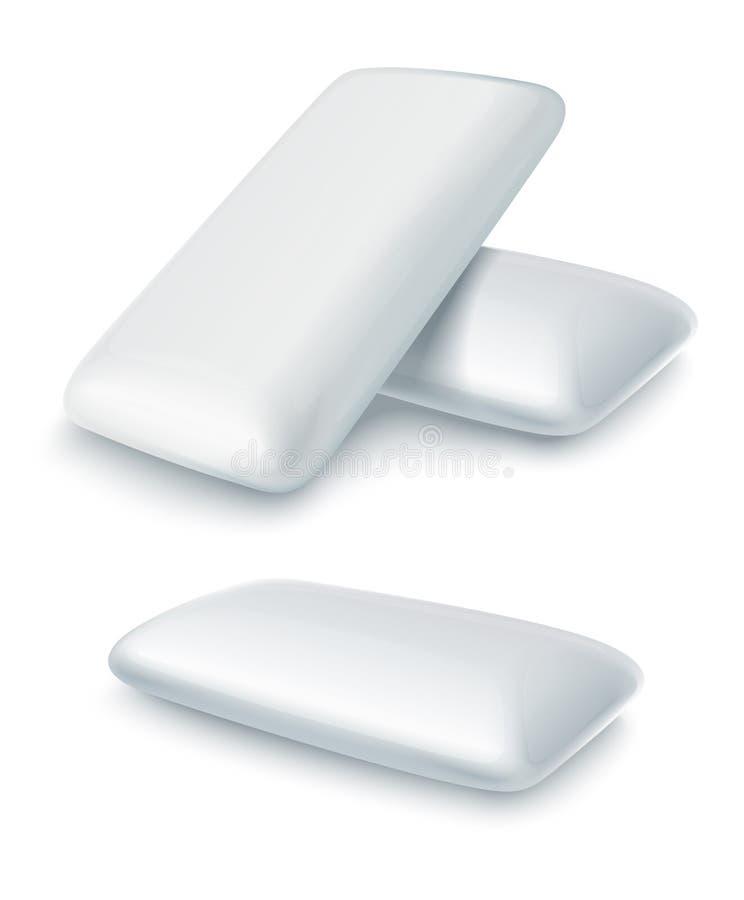 Stootkussens van kauwgom met muntaroma royalty-vrije illustratie