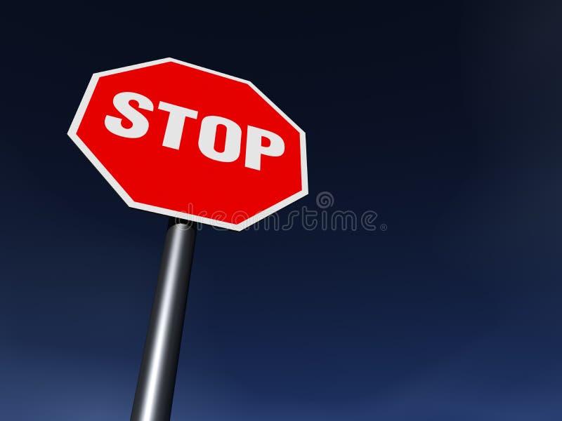 STOP royalty free illustration