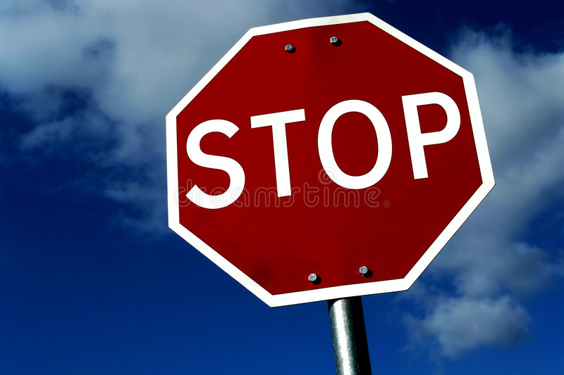 Download Stop stock image. Image of roadsign, limit, stop, heaven - 1416253