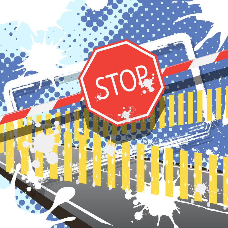 Download Stop stock vector. Illustration of curb, barrier, pathway - 19003560