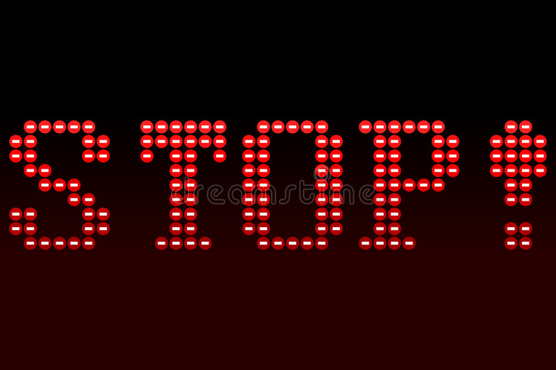 Download Stop stock vector. Image of message, maroon, sign, stop - 4668439