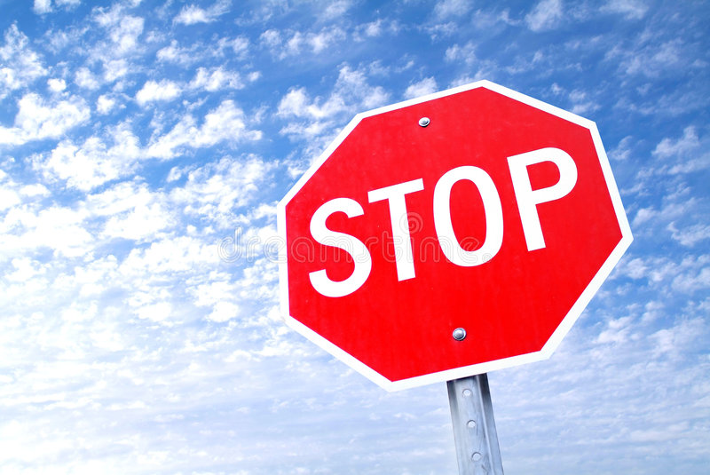 Stop. Sign stock image