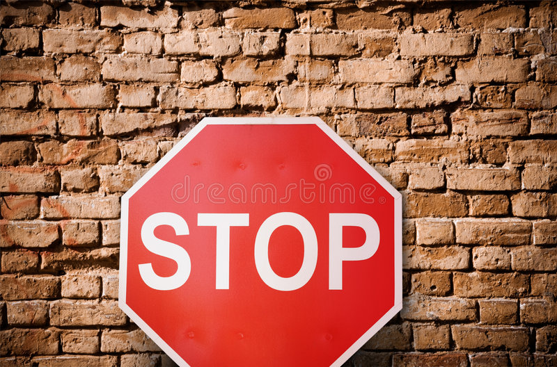 Stop royalty free stock image