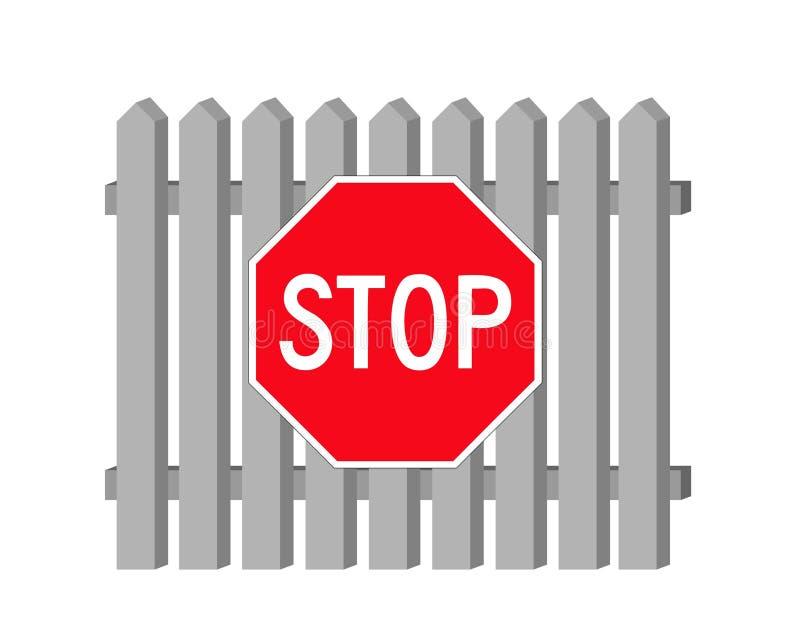 Download Stop stock vector. Image of street, shield, forbidden - 9107517
