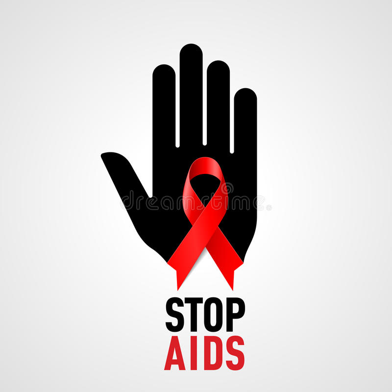 Stop AIDS sign. stock illustration