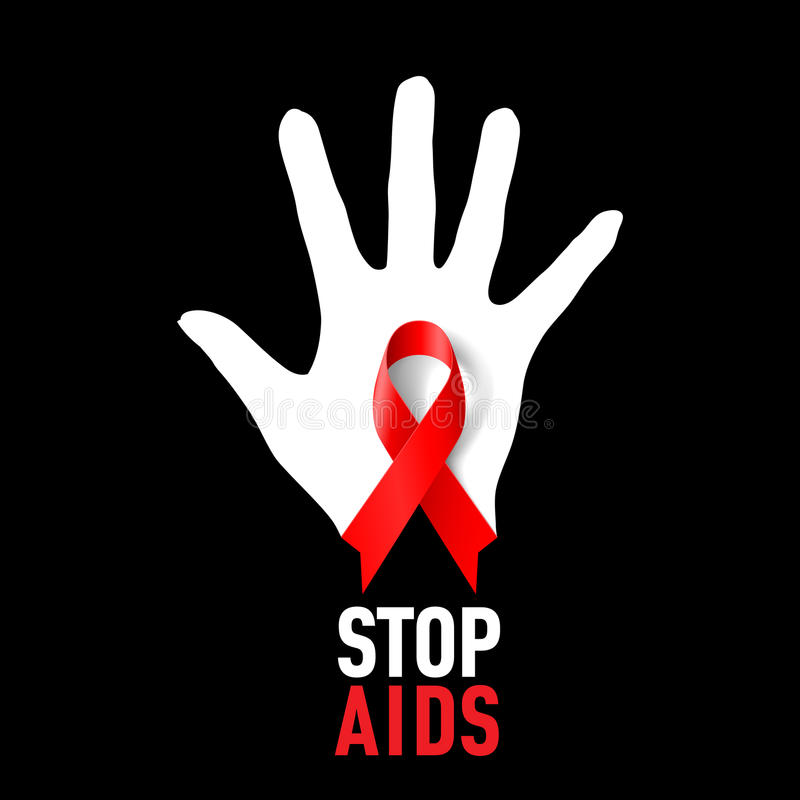 Stop AIDS sign. vector illustration