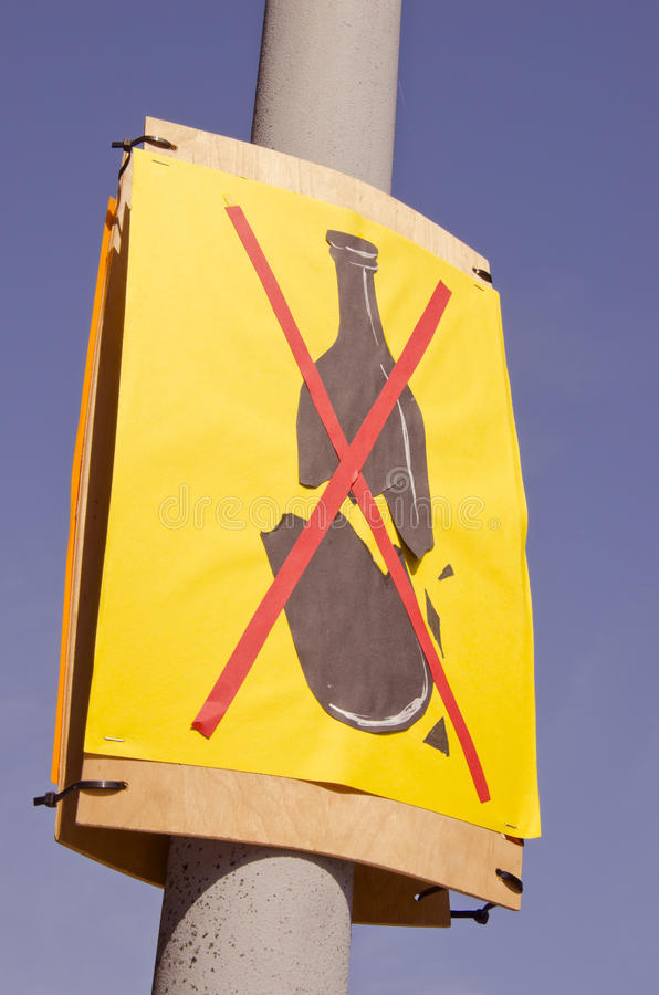Stop alcohol sign in the street royalty free stock image