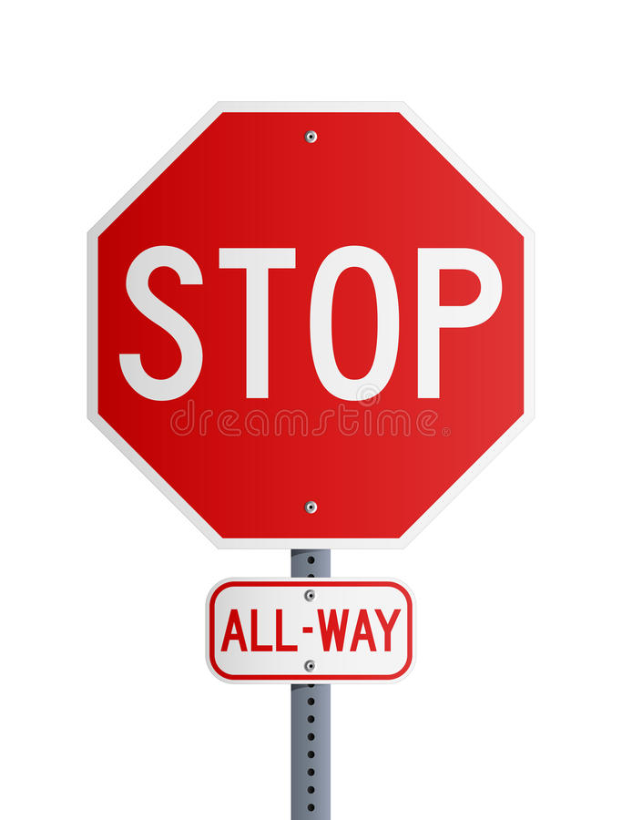 Free Stop All-Way Royalty Free Stock Images - 22091979
