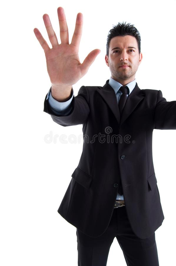 Stop all whit great hand stock photos