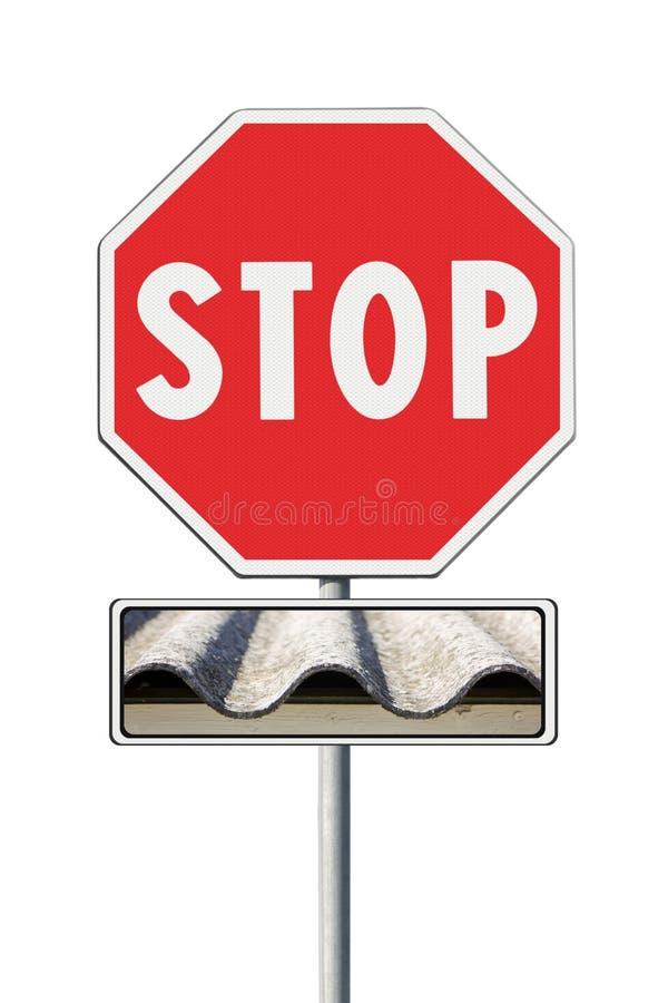 Stop asbestos concept royalty free stock photos