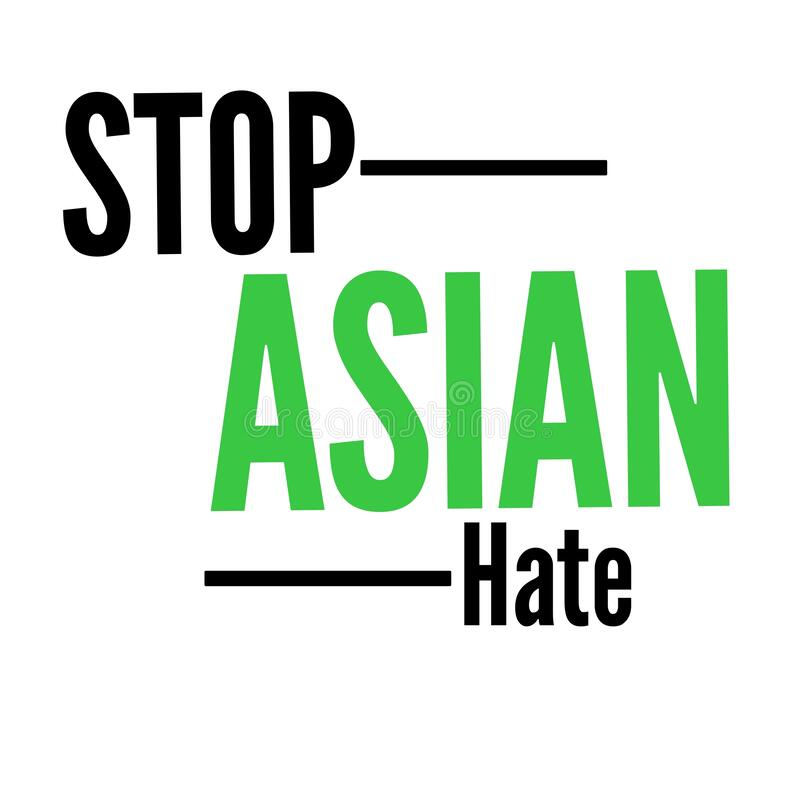 Free Stop Asian Hate Sign And Symbol Typography Design Stock Photography - 213807022