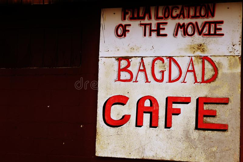 A stop at the Bagdad Cafe, on 66 historic road stock photo