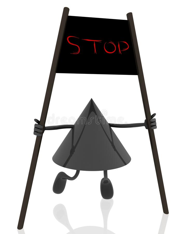 Stop Banner Royalty Free Stock Photos