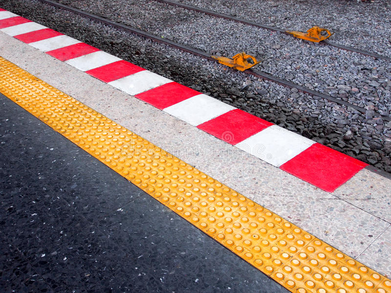 Stop behind the line, danger zone royalty free stock photography