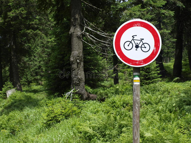 A Stop Bike Sign Royalty Free Stock Photo