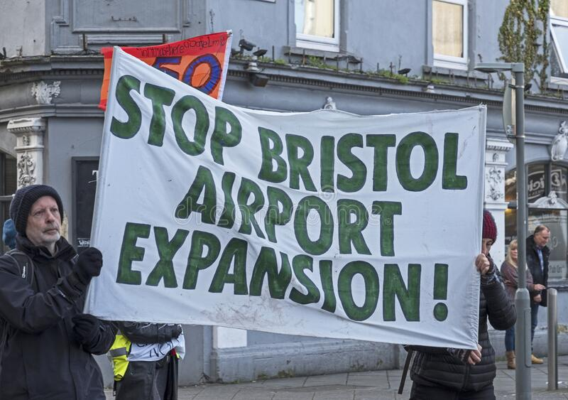 Stop Bristol Airport Expansion royalty free stock photos