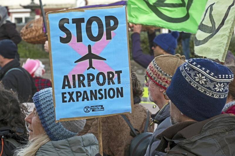 Stop Bristol Airport Expansion royalty free stock image