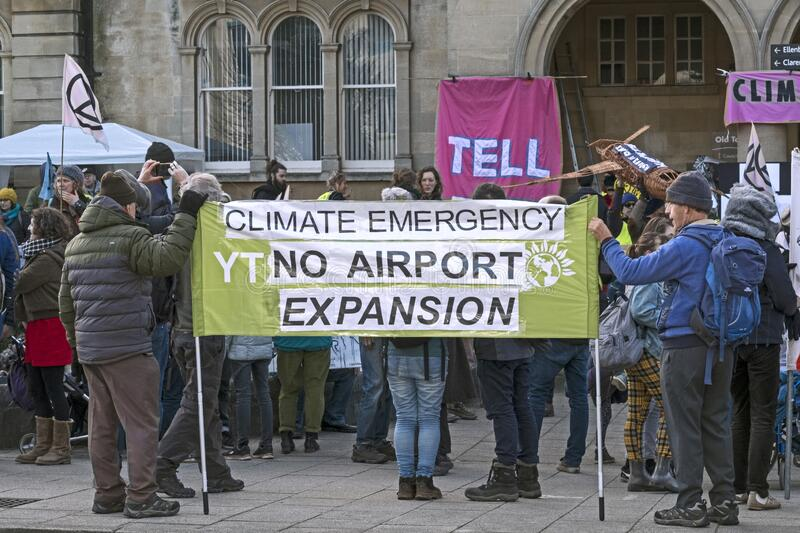 Stop Bristol Airport Expansion stock images