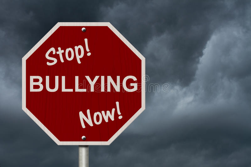 Stop Bullying Now Sign royalty free stock images