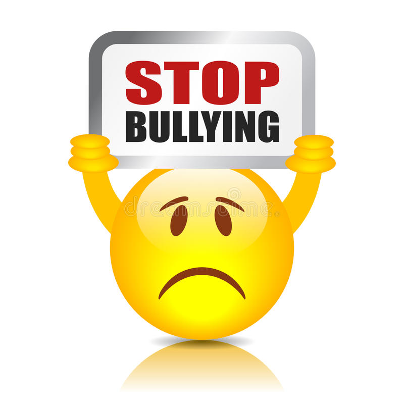 Stop Bullying Sign Stock Vector Illustration Of School