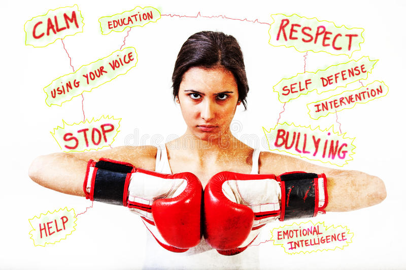 Stop Bullying. And violence concepts royalty free stock photos