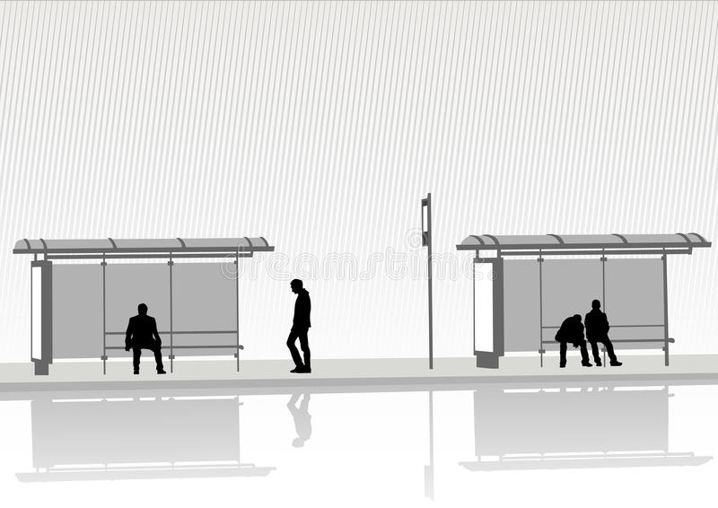 Stop bus royalty free illustration