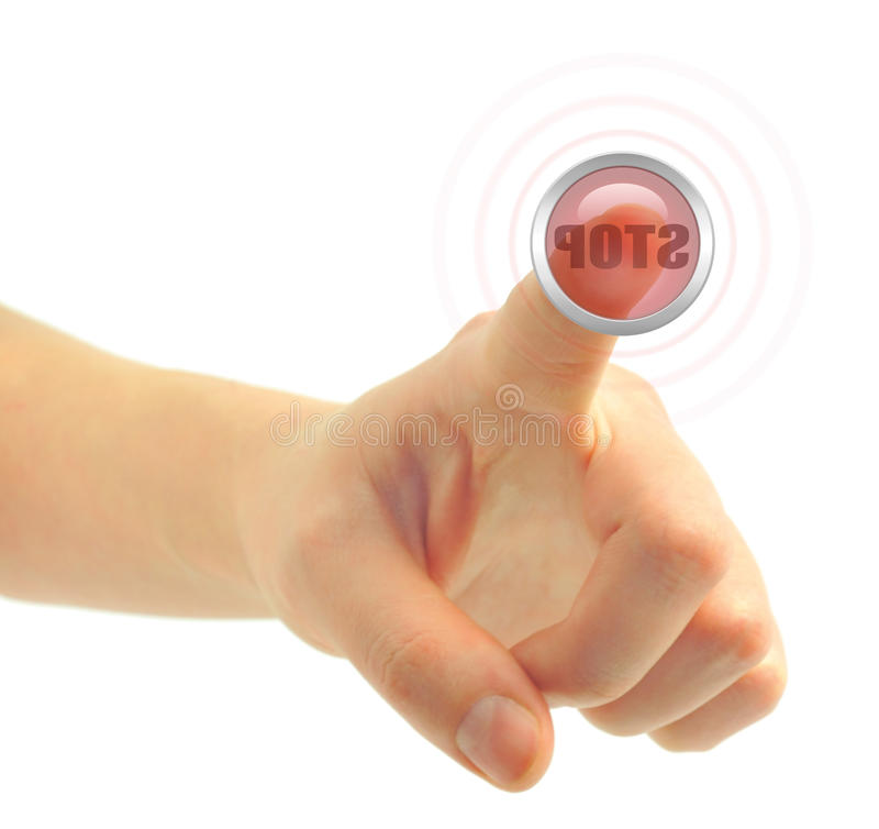 Free Stop Button Royalty Free Stock Photo - 13093095