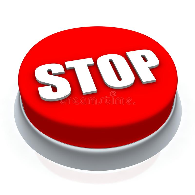 Stop button vector illustration