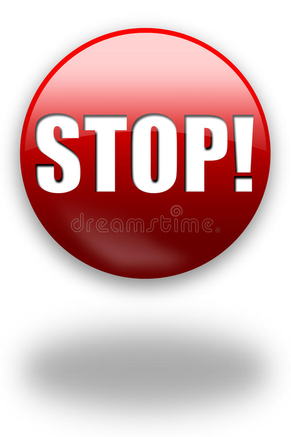 Free STOP! Button / Sign Royalty Free Stock Image - 10969086