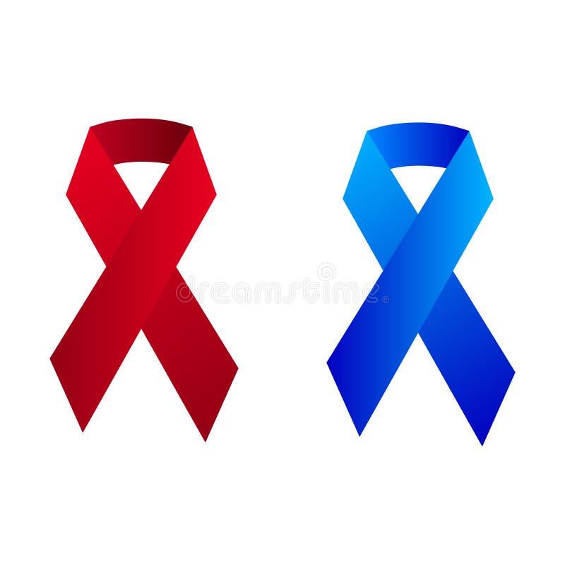 Stop cancer ribbon medical logo icon concept royalty free illustration