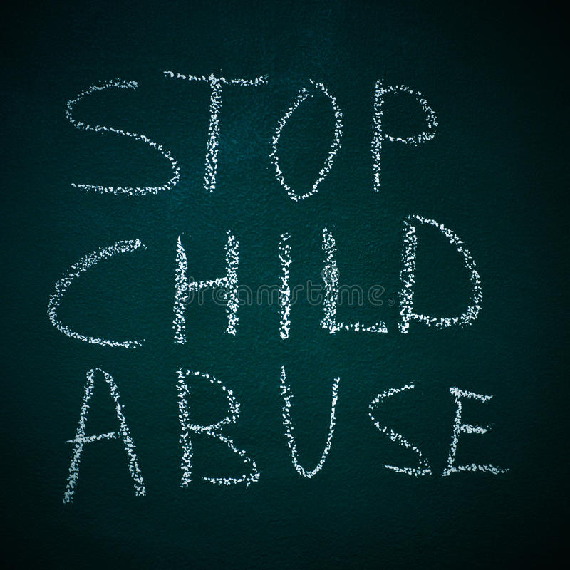 Stop child abuse stock photo