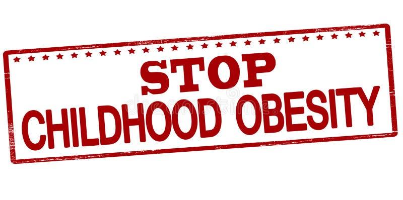 Stop childhood obesity royalty free illustration