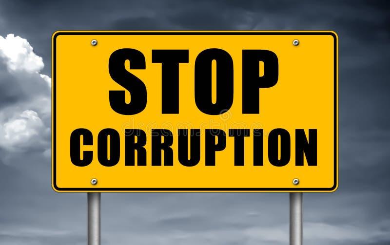Stop Corruption - road sign concept. Stop Corruption  road sign concept stock photo
