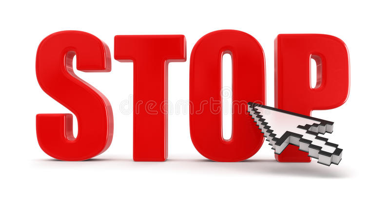 Download Stop And Cursor (clipping Path Included) Royalty Free Stock Image - Image: 35041896