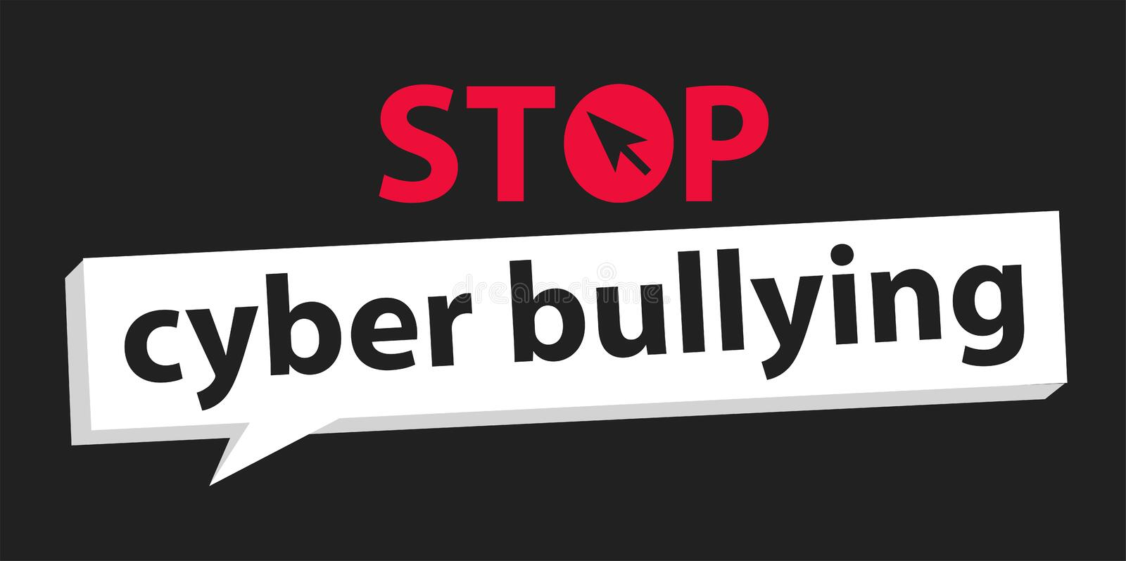 Stop cyber bullying background stock illustration