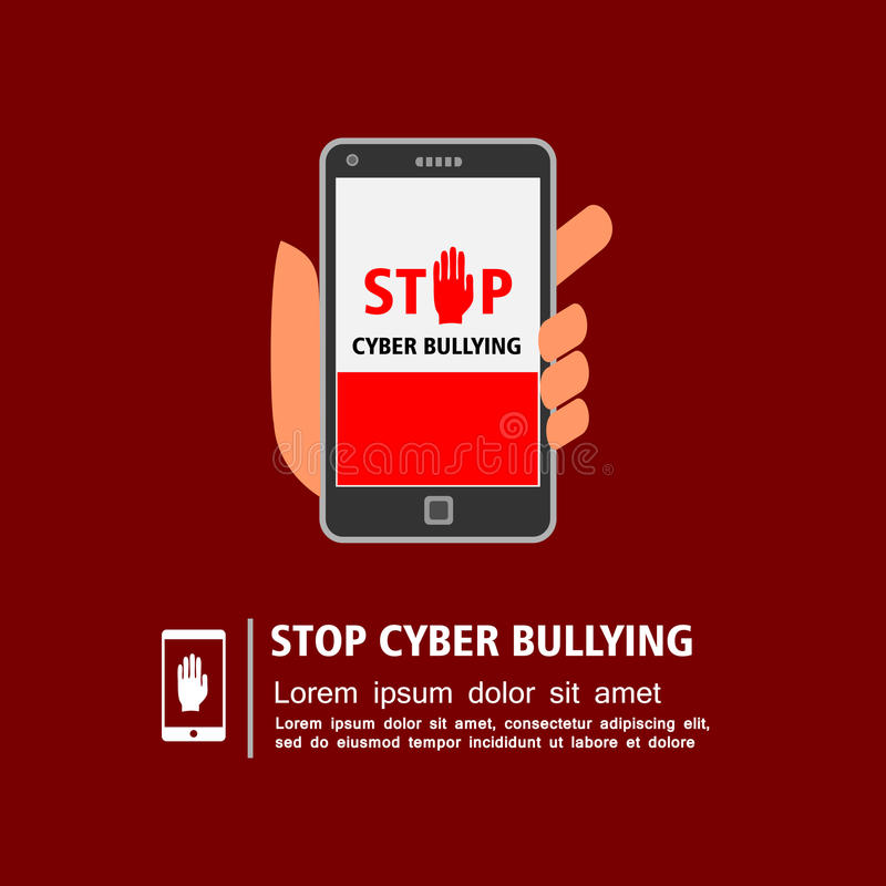Stop cyber bullying campaign royalty free illustration