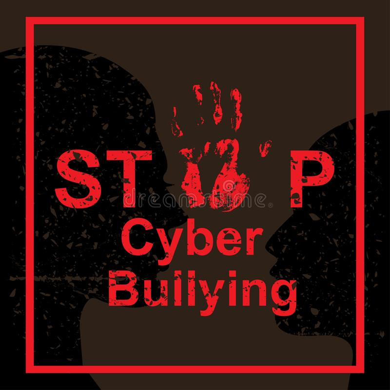 Stop cyber bullying concept royalty free illustration