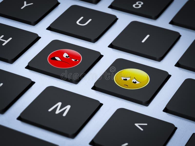 Stop cyber bullying stock illustration