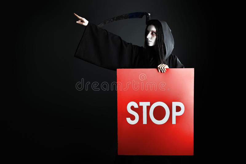 Stop death royalty free stock photography