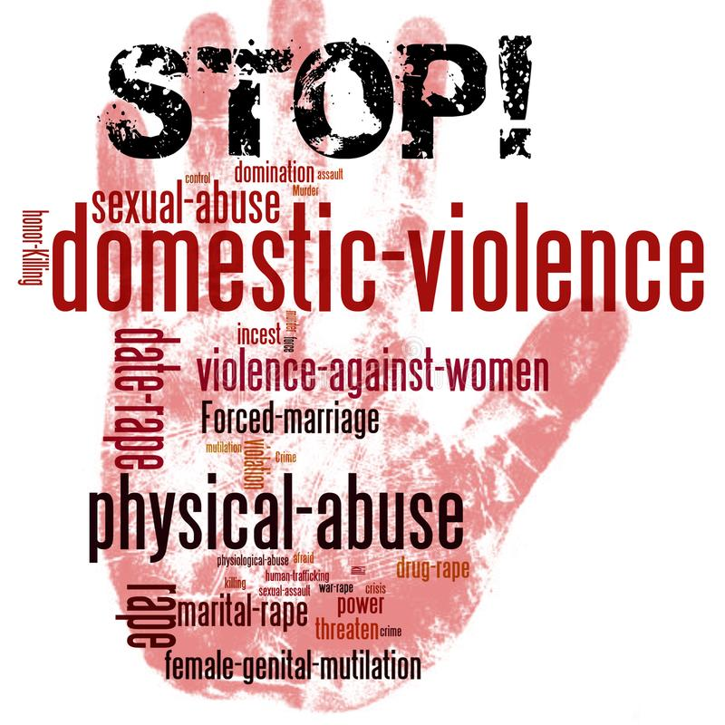 Free Stop Domestic Violence Against Women Stock Images - 105899734