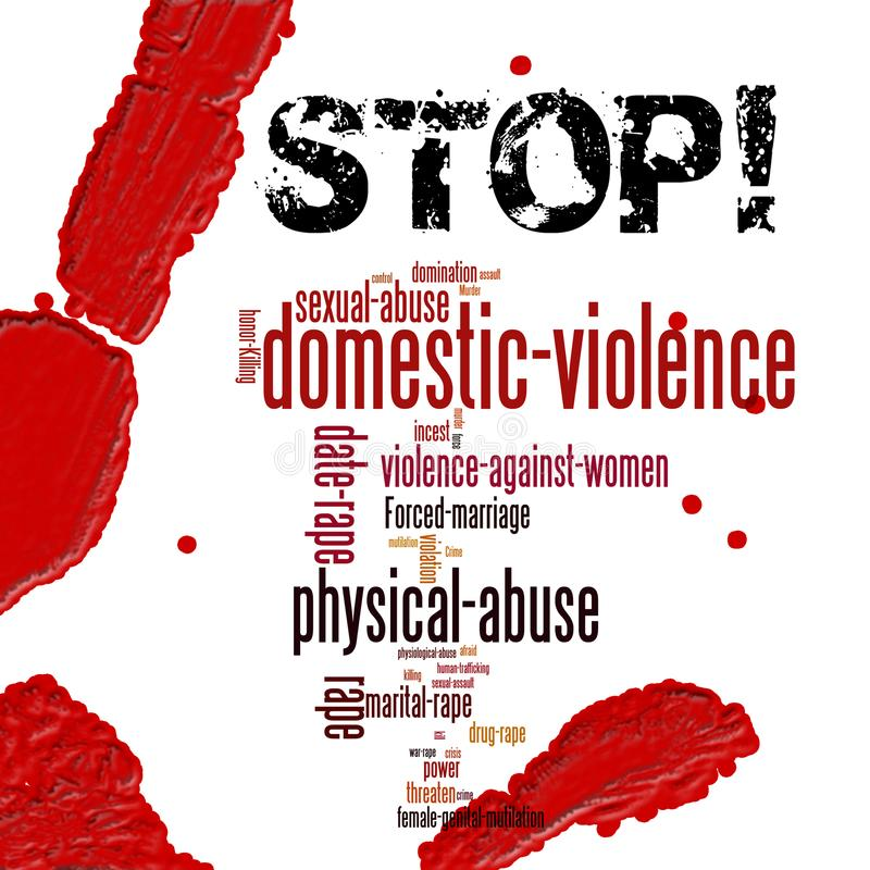 Stop domestic violence against women royalty free stock images