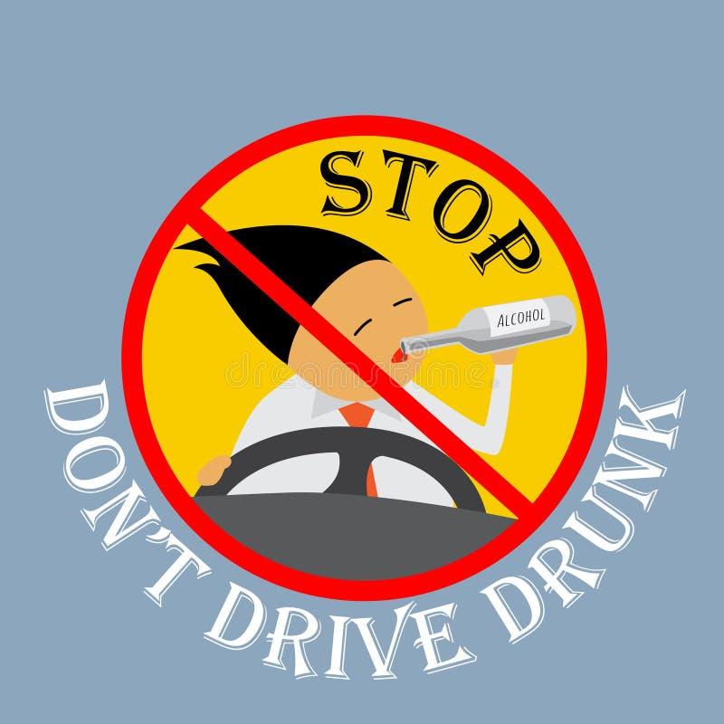 Stop don't drive drunk. vector illustration